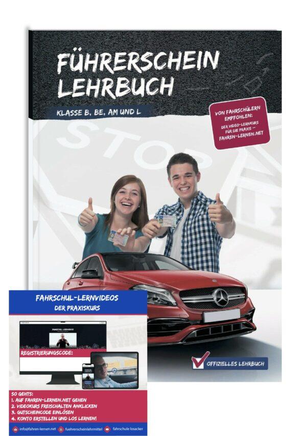 Führerschein Lehrbuch Klasse B, BE, AM und L und Fahrschul-Lernvideos Online Praxiskurs