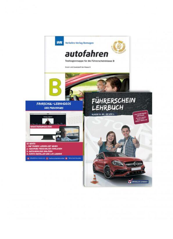 Führerschein Lehrbuch Klasse B, BE, AM und L mit Theoriebögen und Onlinekurs Praxistrainer
