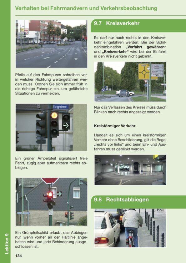 Lektion 9 über das Verhalten bei Fahrmanövern und Verkehrsbeobachtung