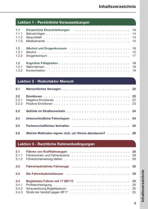 Inhaltsverzeichnis Seite 3