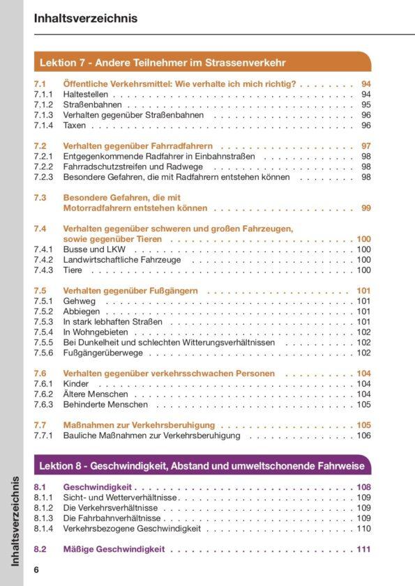 Inhaltsverzeichnis Seite 6