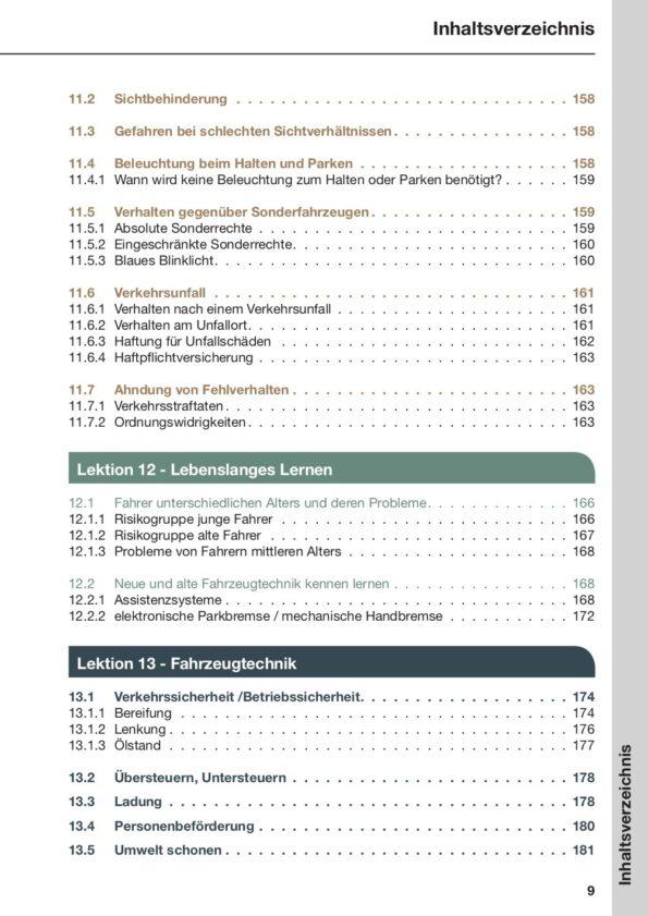 Inhaltsverzeichnis Seite 9