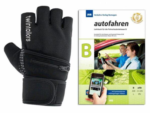 MEGA DEAL! Fahrschule:Führerschein Kl.B Lehrbuch 2017!+1A Sporthandschuhe GRATIS
